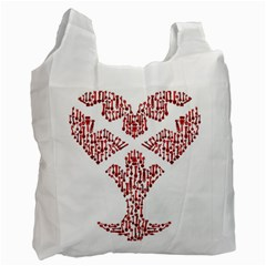 Key Heart 2 Recycle Bag (one Side)