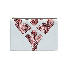 Key Heart 2 Cosmetic Bag (Medium)