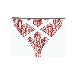 Key Heart 2 Cosmetic Bag (Large)
