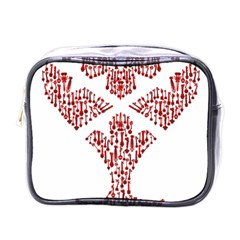 Key Heart 2 Mini Travel Toiletry Bag (one Side)