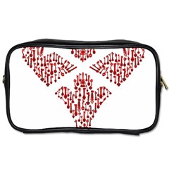 Key Heart 2 Travel Toiletry Bag (Two Sides)