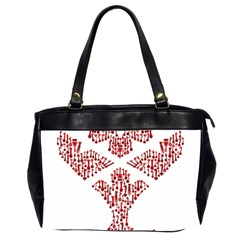 Key Heart 2 Oversize Office Handbag (Two Sides)
