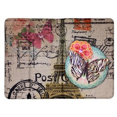 Floral Scripts Butterfly Eiffel Tower Vintage Paris Fashion Kindle Fire Flip Case