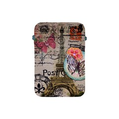 Floral Scripts Butterfly Eiffel Tower Vintage Paris Fashion Apple iPad Mini Protective Soft Case