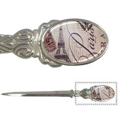 Vintage Scripts Floral Scripts Butterfly Eiffel Tower Vintage Paris Fashion Letter Opener