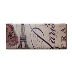 Vintage Scripts Floral Scripts Butterfly Eiffel Tower Vintage Paris Fashion Hand Towel