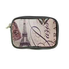 Vintage Scripts Floral Scripts Butterfly Eiffel Tower Vintage Paris Fashion Coin Purse