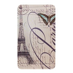 Vintage Scripts Floral Scripts Butterfly Eiffel Tower Vintage Paris Fashion Memory Card Reader (Rectangular)