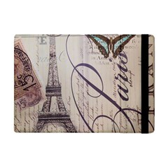 Vintage Scripts Floral Scripts Butterfly Eiffel Tower Vintage Paris Fashion Apple Ipad Mini Flip Case