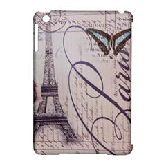 Vintage Scripts Floral Scripts Butterfly Eiffel Tower Vintage Paris Fashion Apple iPad Mini Hardshell Case (Compatible with Smart Cover)