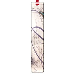 Vintage Scripts Floral Scripts Butterfly Eiffel Tower Vintage Paris Fashion Large Bookmark