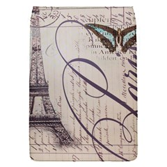 Vintage Scripts Floral Scripts Butterfly Eiffel Tower Vintage Paris Fashion Removable Flap Cover (small)