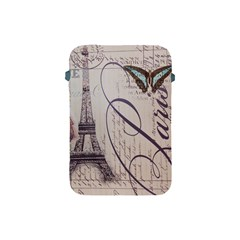 Vintage Scripts Floral Scripts Butterfly Eiffel Tower Vintage Paris Fashion Apple iPad Mini Protective Soft Case