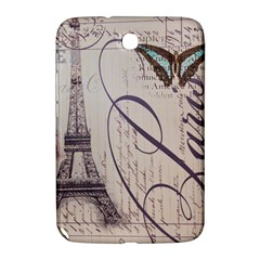 Vintage Scripts Floral Scripts Butterfly Eiffel Tower Vintage Paris Fashion Samsung Galaxy Note 8.0 N5100 Hardshell Case