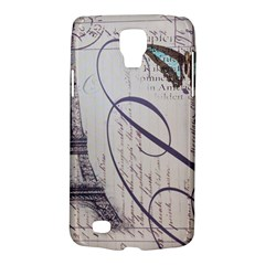 Vintage Scripts Floral Scripts Butterfly Eiffel Tower Vintage Paris Fashion Samsung Galaxy S4 Active (I9295) Hardshell Case