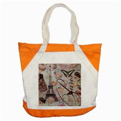 French Pastry Vintage Scripts Floral Scripts Butterfly Eiffel Tower Vintage Paris Fashion Accent Tote Bag