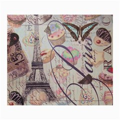 French Pastry Vintage Scripts Floral Scripts Butterfly Eiffel Tower Vintage Paris Fashion Canvas 36  x 48  (Unframed)