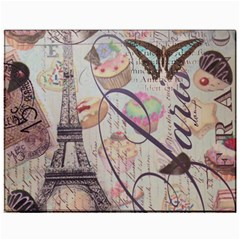 French Pastry Vintage Scripts Floral Scripts Butterfly Eiffel Tower Vintage Paris Fashion Canvas 11  x 14  (Unframed)