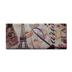 French Pastry Vintage Scripts Floral Scripts Butterfly Eiffel Tower Vintage Paris Fashion Hand Towel