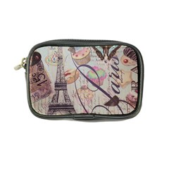 French Pastry Vintage Scripts Floral Scripts Butterfly Eiffel Tower Vintage Paris Fashion Coin Purse