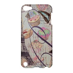 French Pastry Vintage Scripts Floral Scripts Butterfly Eiffel Tower Vintage Paris Fashion Apple iPod Touch 5 Hardshell Case