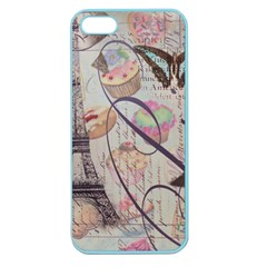 French Pastry Vintage Scripts Floral Scripts Butterfly Eiffel Tower Vintage Paris Fashion Apple Seamless Iphone 5 Case (color)