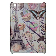 French Pastry Vintage Scripts Floral Scripts Butterfly Eiffel Tower Vintage Paris Fashion Apple iPad Mini Hardshell Case