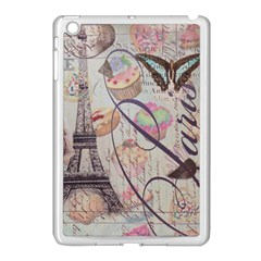 French Pastry Vintage Scripts Floral Scripts Butterfly Eiffel Tower Vintage Paris Fashion Apple Ipad Mini Case (white)