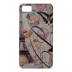 French Pastry Vintage Scripts Floral Scripts Butterfly Eiffel Tower Vintage Paris Fashion BlackBerry 10 Dev Alpha A (Z10) Hardshell Case