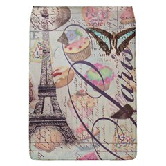 French Pastry Vintage Scripts Floral Scripts Butterfly Eiffel Tower Vintage Paris Fashion Removable Flap Cover (Large)