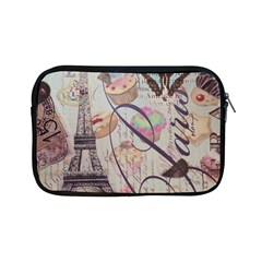 French Pastry Vintage Scripts Floral Scripts Butterfly Eiffel Tower Vintage Paris Fashion Apple iPad Mini Zipper Case