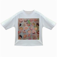 French Pastry Vintage Scripts Cookies Cupcakes Vintage Paris Fashion Baby T-shirt