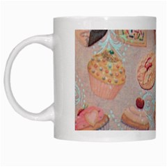 French Pastry Vintage Scripts Cookies Cupcakes Vintage Paris Fashion White Coffee Mug