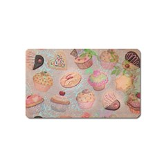French Pastry Vintage Scripts Cookies Cupcakes Vintage Paris Fashion Magnet (Name Card)