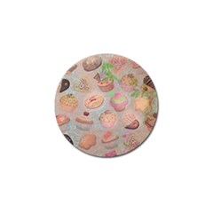 French Pastry Vintage Scripts Cookies Cupcakes Vintage Paris Fashion Golf Ball Marker