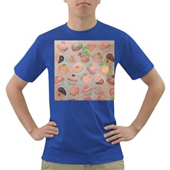 French Pastry Vintage Scripts Cookies Cupcakes Vintage Paris Fashion Mens' T-shirt (Colored)