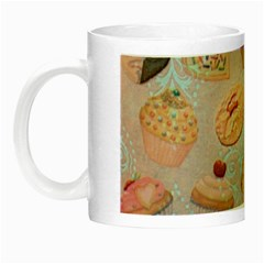 French Pastry Vintage Scripts Cookies Cupcakes Vintage Paris Fashion Glow in the Dark Mug