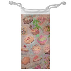 French Pastry Vintage Scripts Cookies Cupcakes Vintage Paris Fashion Jewelry Bag