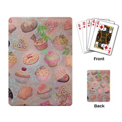 French Pastry Vintage Scripts Cookies Cupcakes Vintage Paris Fashion Playing Cards Single Design