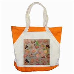 French Pastry Vintage Scripts Cookies Cupcakes Vintage Paris Fashion Accent Tote Bag
