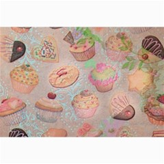 French Pastry Vintage Scripts Cookies Cupcakes Vintage Paris Fashion Canvas 12  x 18  (Unframed)