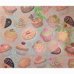 French Pastry Vintage Scripts Cookies Cupcakes Vintage Paris Fashion Canvas 20  x 24  (Unframed)
