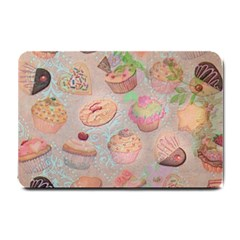 French Pastry Vintage Scripts Cookies Cupcakes Vintage Paris Fashion Small Door Mat