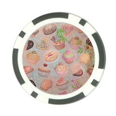 French Pastry Vintage Scripts Cookies Cupcakes Vintage Paris Fashion Poker Chip