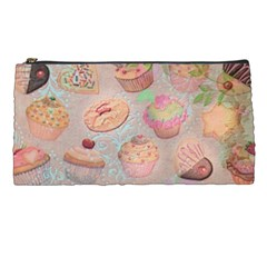 French Pastry Vintage Scripts Cookies Cupcakes Vintage Paris Fashion Pencil Case