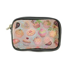 French Pastry Vintage Scripts Cookies Cupcakes Vintage Paris Fashion Coin Purse