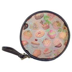 French Pastry Vintage Scripts Cookies Cupcakes Vintage Paris Fashion Cd Wallet