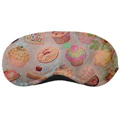 French Pastry Vintage Scripts Cookies Cupcakes Vintage Paris Fashion Sleeping Mask