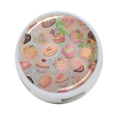 French Pastry Vintage Scripts Cookies Cupcakes Vintage Paris Fashion 4-Port USB Hub (Two Sides)
