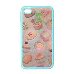 French Pastry Vintage Scripts Cookies Cupcakes Vintage Paris Fashion Apple iPhone 4 Case (Color)